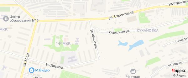 Улица Шлихтера на карте Ефремова с номерами домов