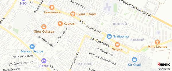 Улица Сурикова на карте Геленджика с номерами домов