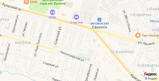 Первомайский проезд в Ефремове с номерами домов на карте. Спутник и схема онлайн