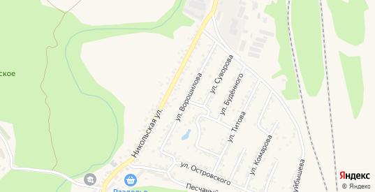 Улица Ворошилова в Валуйках с номерами домов на карте. Спутник и схема онлайн
