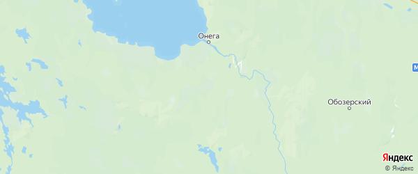 Карта Онежского района Архангельской области с городами и населенными пунктами