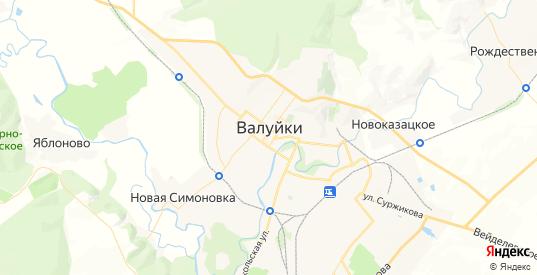 Карта Валуек с улицами и домами подробная. Показать со спутника номера домов онлайн