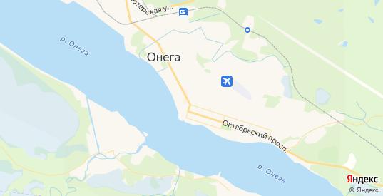 Карта Онеги с улицами и домами подробная. Показать со спутника номера домов онлайн