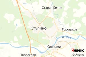 Карта г. Ступино Московская область