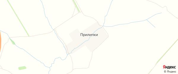 Карта деревни Прилипки в Тульской области с улицами и номерами домов