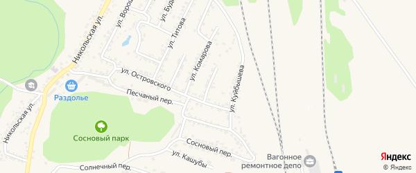 Улица Ломоносова на карте Валуек с номерами домов