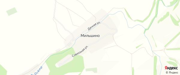Карта села Мильшино в Тульской области с улицами и номерами домов