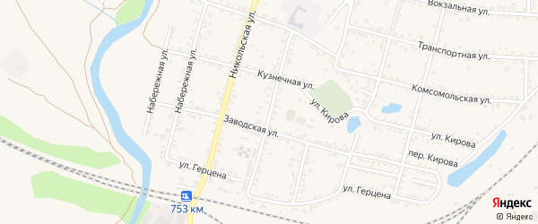 Колхозная улица на карте Валуек с номерами домов