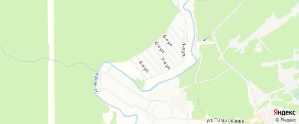 Садовое товарищество Воря-2 на карте Красноармейска с номерами домов