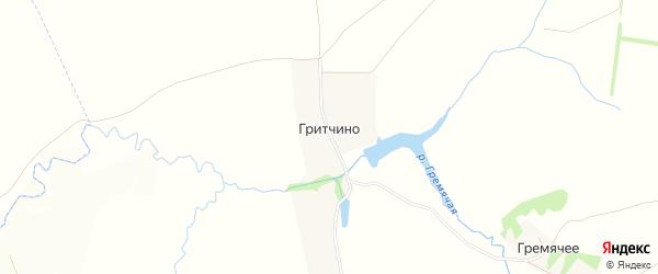 Карта деревни Гритчино в Тульской области с улицами и номерами домов