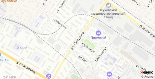 Улица Мичурина в Жуковском с номерами домов на карте. Спутник и схема онлайн