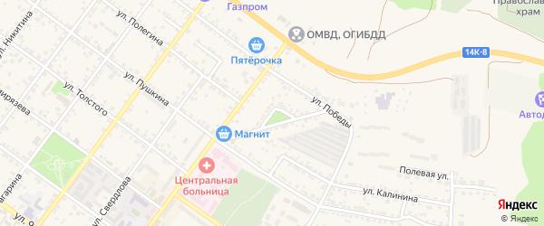 Улица Ватутина на карте Валуек с номерами домов