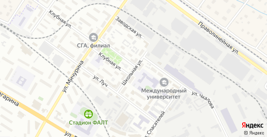Школьная улица в Жуковском с номерами домов на карте. Спутник и схема онлайн