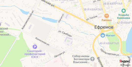 Улица Свободы в Ефремове с номерами домов на карте. Спутник и схема онлайн