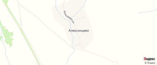 Карта деревни Алексинцево в Тульской области с улицами и номерами домов