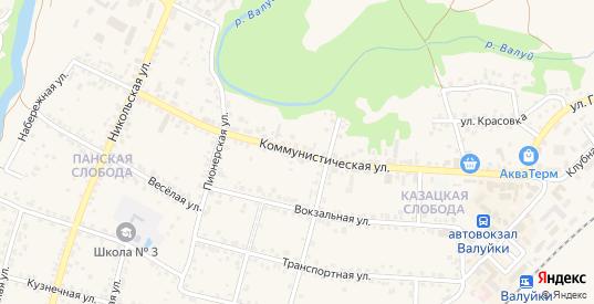 Коммунистическая улица в Валуйках с номерами домов на карте. Спутник и схема онлайн