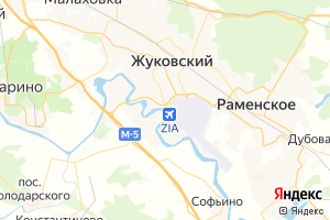 Карта г. Жуковский Московская область