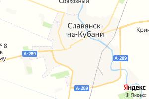 Карта г. Славянск-на-Кубани Краснодарский край