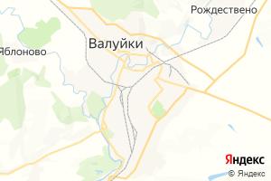 Карта г. Валуйки Белгородская область
