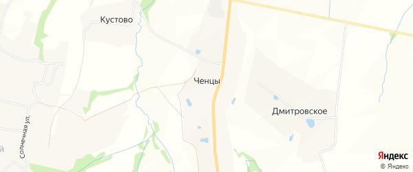 Карта деревни Ченцы в Московской области с улицами и номерами домов
