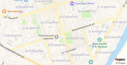 Улица Красная Площадь в Ефремове с номерами домов на карте. Спутник и схема онлайн