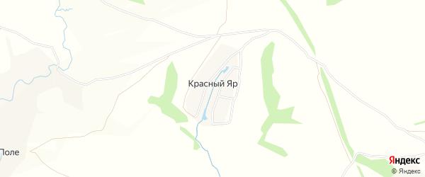 Карта поселка Красного Яра в Тульской области с улицами и номерами домов