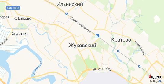 Карта Жуковского с улицами и домами подробная. Показать со спутника номера домов онлайн