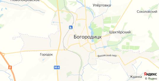 Карта Богородицка с улицами и домами подробная. Показать со спутника номера домов онлайн