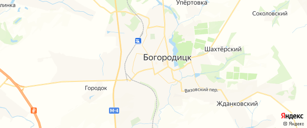 Карта Богородицка с районами, улицами и номерами домов