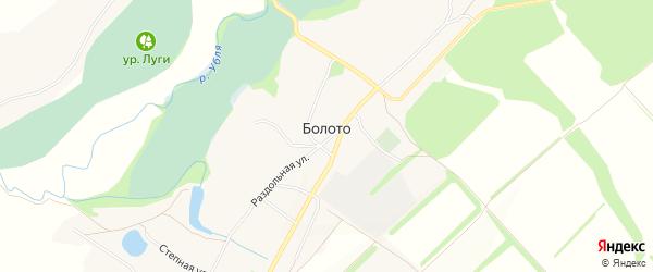 Карта села Болота в Курской области с улицами и номерами домов