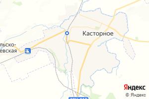 Карта пос. Касторное