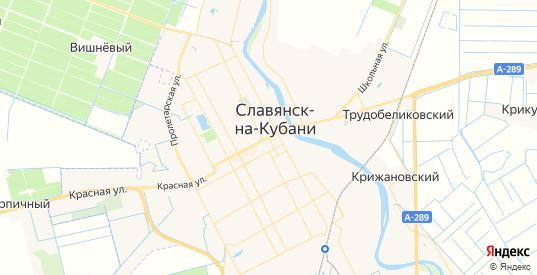 Карта Славянска-на-Кубани с улицами и домами подробная. Показать со спутника номера домов онлайн