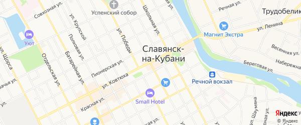 ГСК 5 на карте Славянска-на-Кубани с номерами домов