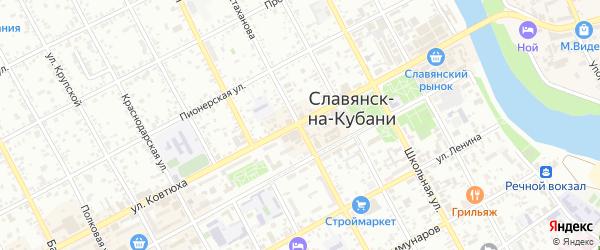 СНТ Мечта на карте Славянска-на-Кубани с номерами домов