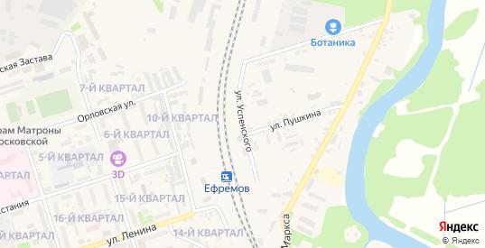 Улица Успенского в Ефремове с номерами домов на карте. Спутник и схема онлайн