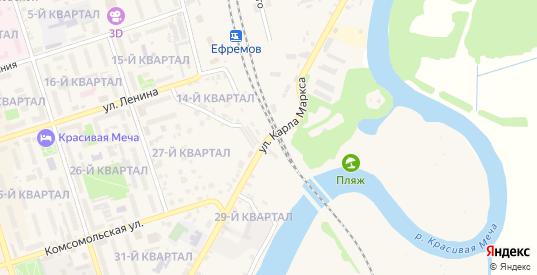 Улица Карла Маркса в Ефремове с номерами домов на карте. Спутник и схема онлайн