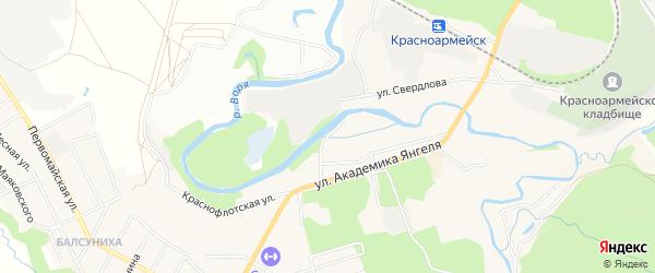 Заречный ГСК на карте Красноармейска с номерами домов
