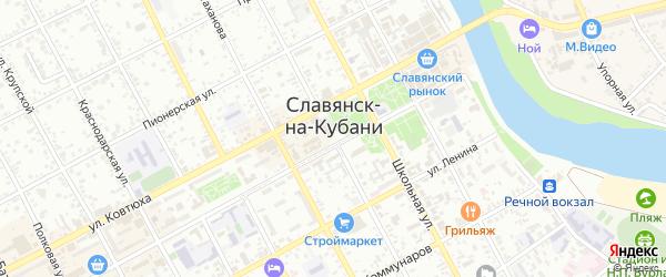 Семейная улица на карте Славянска-на-Кубани с номерами домов