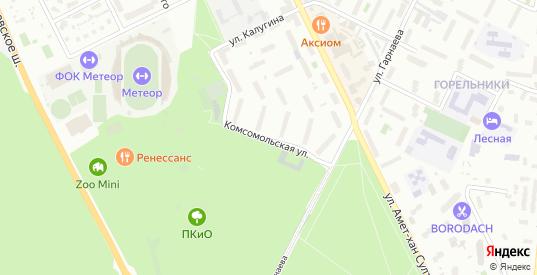 Комсомольская улица в Жуковском с номерами домов на карте. Спутник и схема онлайн