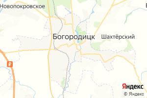 Карта г. Богородицк Тульская область