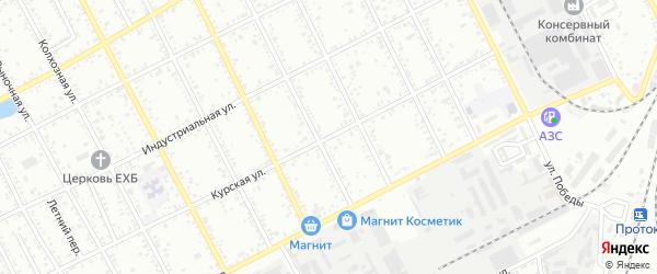 Курская улица на карте Славянска-на-Кубани с номерами домов