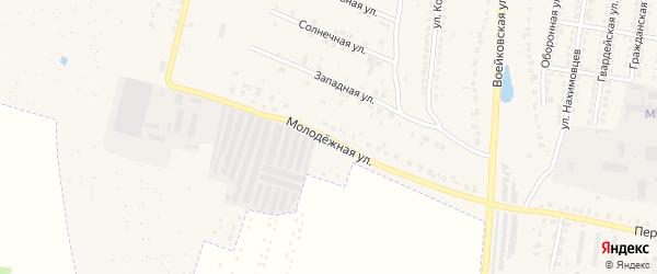 Молодежная улица на карте Узловой с номерами домов