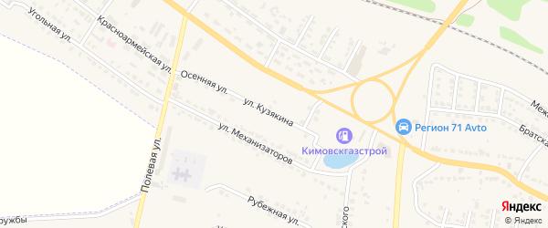 Улица Кузякина на карте Узловой с номерами домов