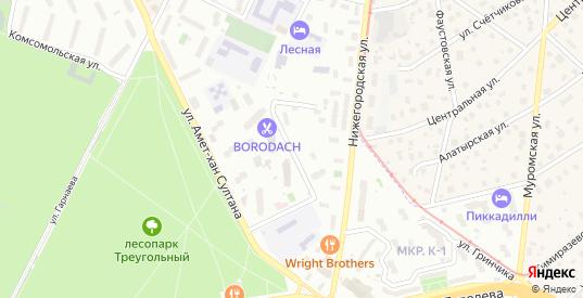 Лесная улица в Жуковском с номерами домов на карте. Спутник и схема онлайн