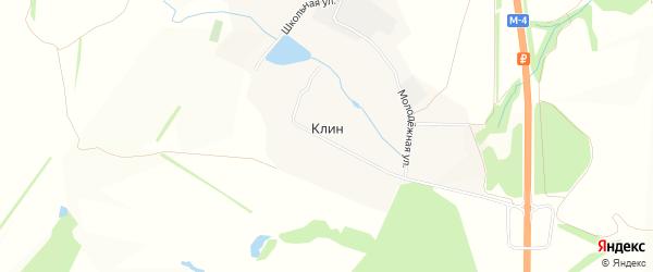Карта села Клина в Тульской области с улицами и номерами домов