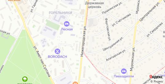 Нижегородская улица в Жуковском с номерами домов на карте. Спутник и схема онлайн