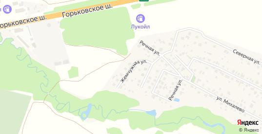 Жемчужная улица в Старой Купавне с номерами домов на карте. Спутник и схема онлайн