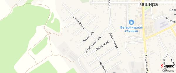 Окская улица на карте Каширы с номерами домов