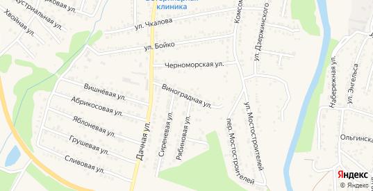Виноградная улица в Абинске с номерами домов на карте. Спутник и схема онлайн