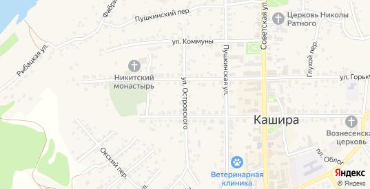 Улица Островского в Кашире с номерами домов на карте. Спутник и схема онлайн